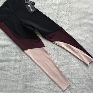NWT Onzie Asymmetrical Block Midi Yoga Leggings XS